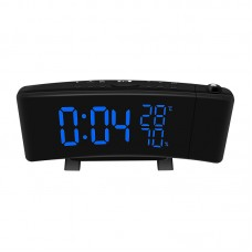 TS-5210 Thermometer Hygrometer Digital Clock 3 Color Projection LED Switch Display Time Clock Temper