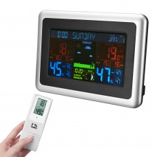 Wireless LCD Display Digital Thermometer Hygrometer Color Screen Weather Station Temperature Measurement Tool