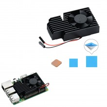 3510 Version Extreme Cooling Fan + Copper Heatsink + Thermal Tapes Kit For Raspberry Pi 3B+