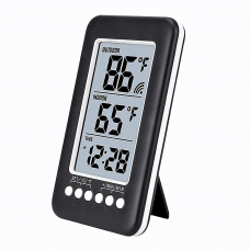 Wireless Digital LCD Display Thermometer Radio Wave Time Adjust Thermometer